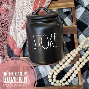 Rae Dunn STORE Canister in Black